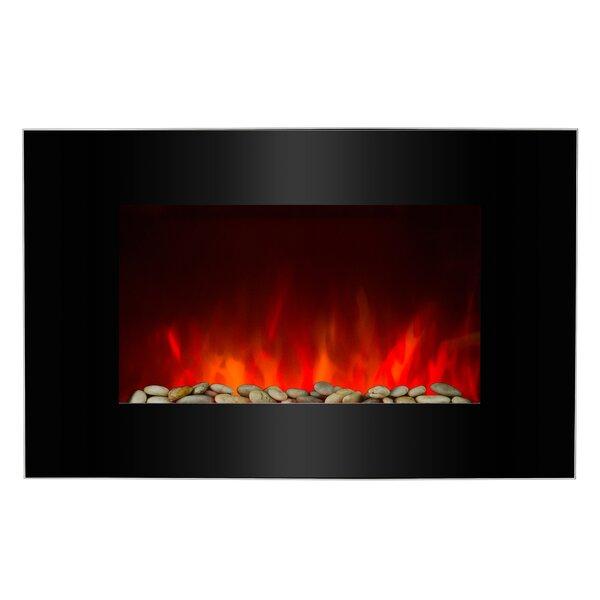 Piano Black Wall Mounted Electric Fireplace by AKDY