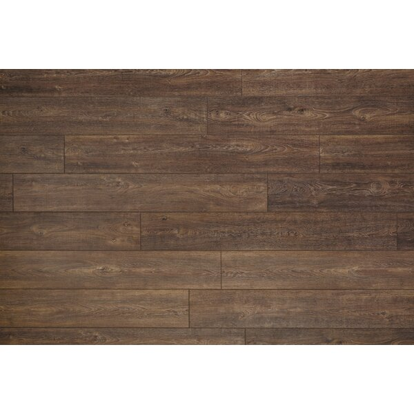 Restoration Wide Plank 8'' x 51'' x 12mm Oak Laminate Flooring in Nutmeg by Mannington