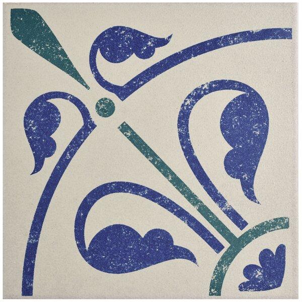 Cementa 7 x 7 Porcelain Field Tile in Blue/Green/White by EliteTile
