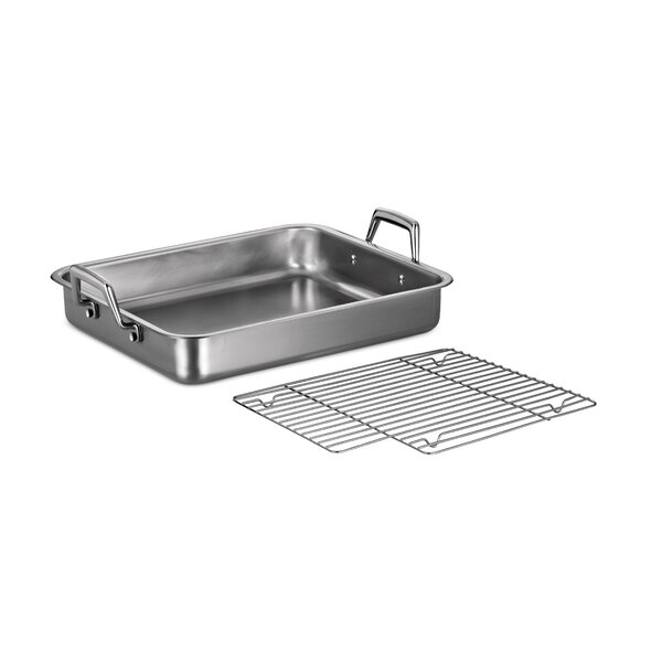 Gourmet Prima 15 Lasagna Roasting Pan with Basting Grill by Tramontina