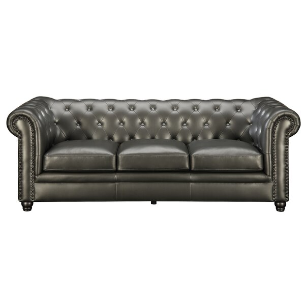 Chesterfield couch  Darby Home Co Vanallen Leather Chesterfield Sofa & Reviews | Wayfair