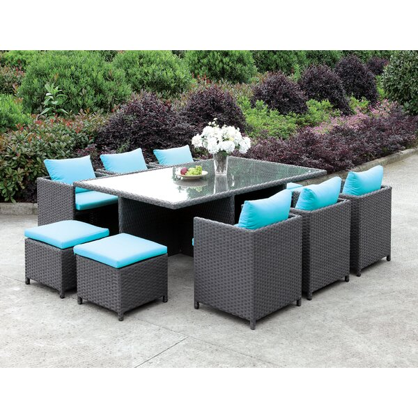Tamayo 11 Piece Dining Set with Cushions by Brayden Studio
