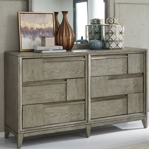 Ehrhardt Wood 6 Drawer Double Dresser by Brayden Studio