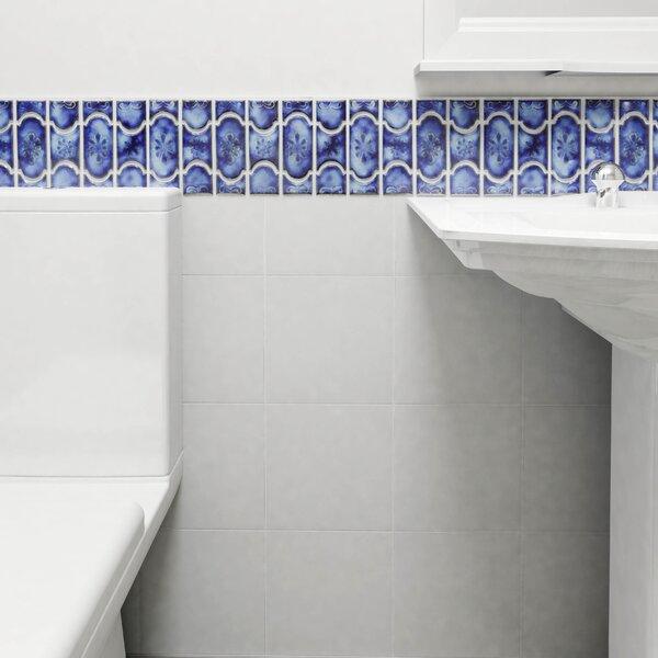 Mondego Porcelain Mosaic Tile in Blue by EliteTile