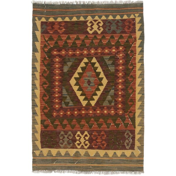 One-of-a-Kind Olmsted Hand-Woven Wool Brown/Dark Khaki Area Rug by Loon Peak