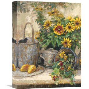 Sunflower Garden II' by Hong Painting on Wrapped Canvas by Global Gallery
