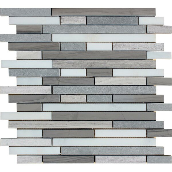 Arctic Storm Random Sized Natural Stone Mosaic Tile in Gray by MSI