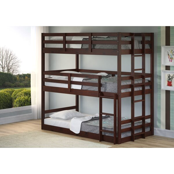 Collett Twin Over Twin Over Twin Triple Bunk Bed by Harriet Bee