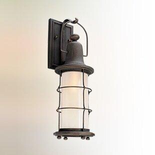 Farrell 1-Light Glass Shade Outdoor Wall Lantern By Longshore Tides Outdoor Lighting
