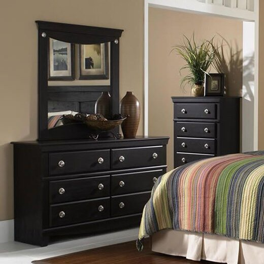 Fralick 6 Drawer Double Dresser with Mirror by Winston Porter