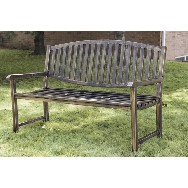 Katelyn Slatted Metal Park Bench by Millwood Pines