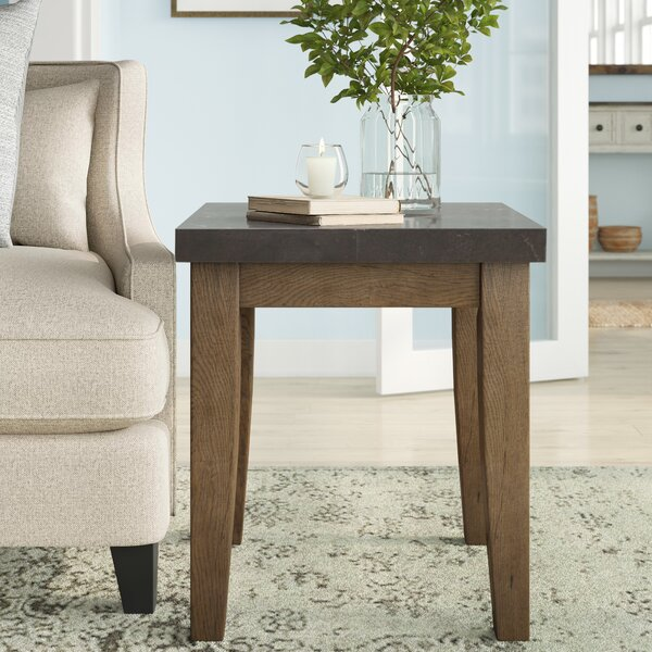 Chugwater Bluestone End Table by Three Posts