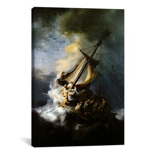 'The Storm on The Sea of Galilee' by Rembrandt Painting Print on Canvas by iCanvas