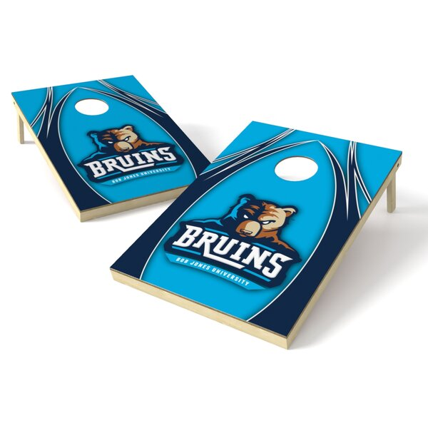 NCAA V Logo College Bob Jones Cornhole Board (Set of 2) by Tailgate Toss