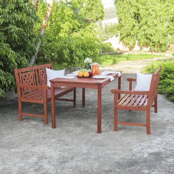 Amabel 3 Piece Patio Dining Set By Beachcrest Home by Beachcrest Home Today Sale Only