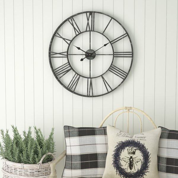 Oversized Eisenhauer 30 Wall Clock by Laurel Foundry Modern Farmhouse