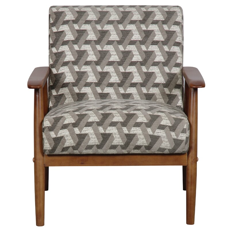 Marvelous Izabella Wood Frame Armchair