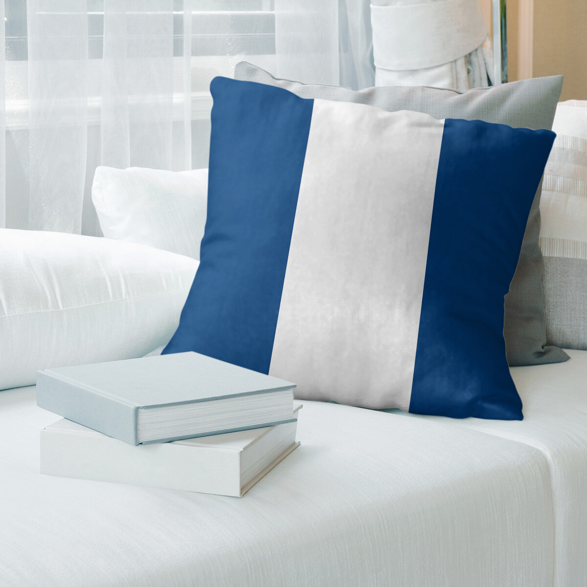 East Urban Home Tampa Bay Hockey Striped Pillow Cover Wayfair