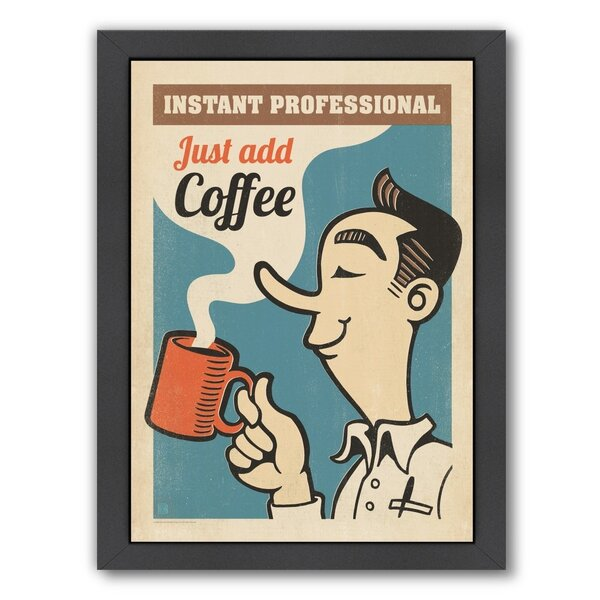 Coffee Instant Professional Framed Vintage Advertisement by East Urban Home