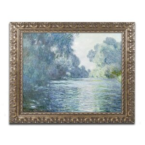 Branch of the Seine near Giverny by Claude Monet Framed Painting Print by Trademark Fine Art