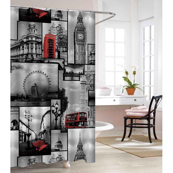 London Land Heavy-Weight Waterproof Vinyl Shower Curtain by East Urban Home