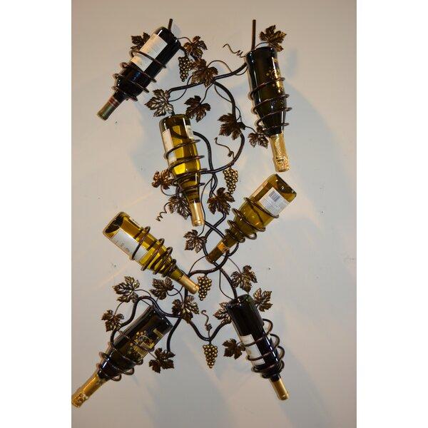 7 Bottle Wall Mounted Wine Rack by J & J Wire