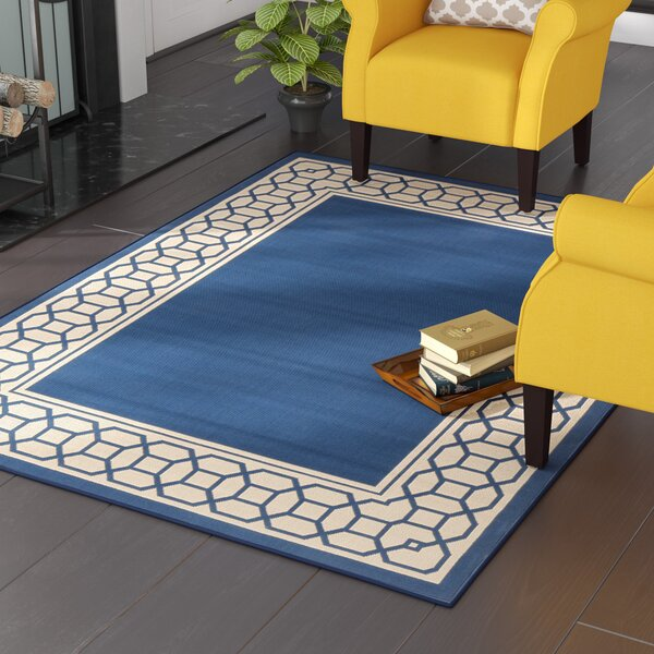 Osage Navy Indoor/Outdoor Area Rug by Charlton Home