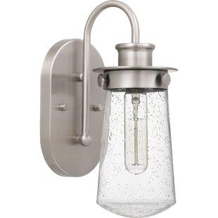 Read Reviews Simsbury 1-Light Vanity Light By Breakwater Bay