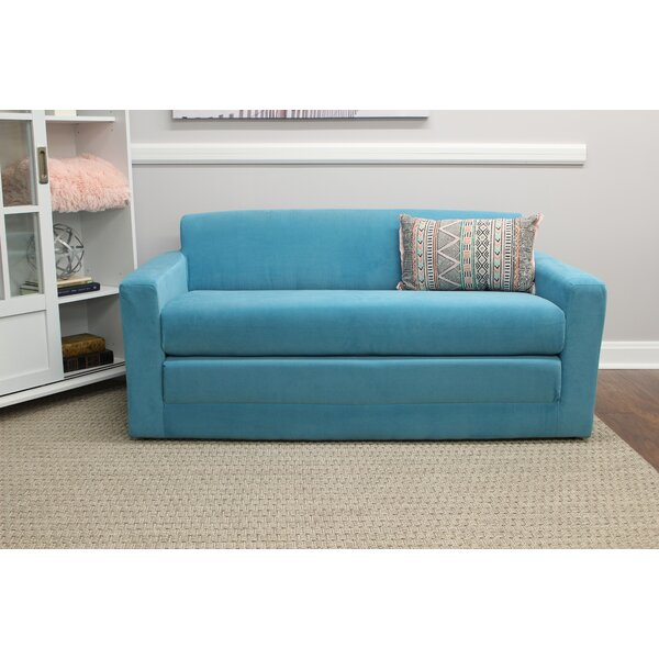 New Trendy Pardue Sleeper Loveseat by Wrought Studio by Wrought Studio