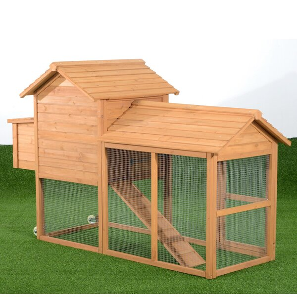 Belinda Deluxe Portable Backyard Chicken Coop with Nesting Box by Tucker Murphy Pet
