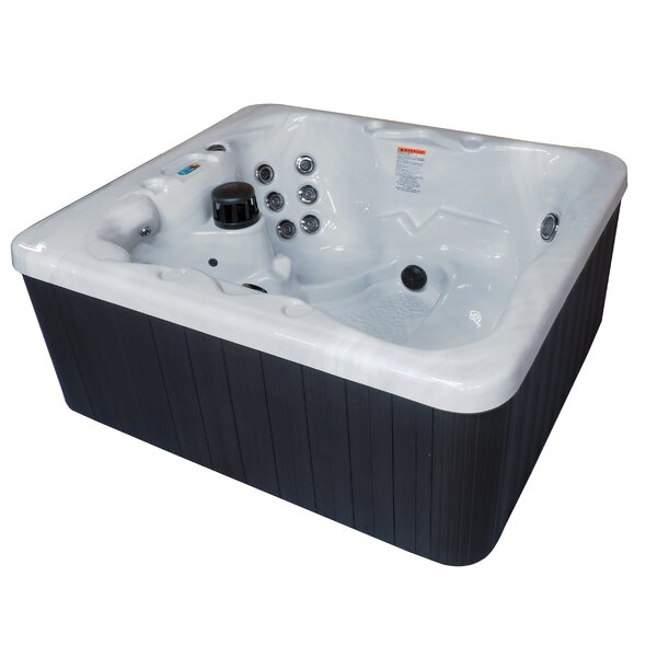 Key West Dura Shell 5-Person 42-Jet Plug and Play Spa with Starburst LED Light by QCA Spas