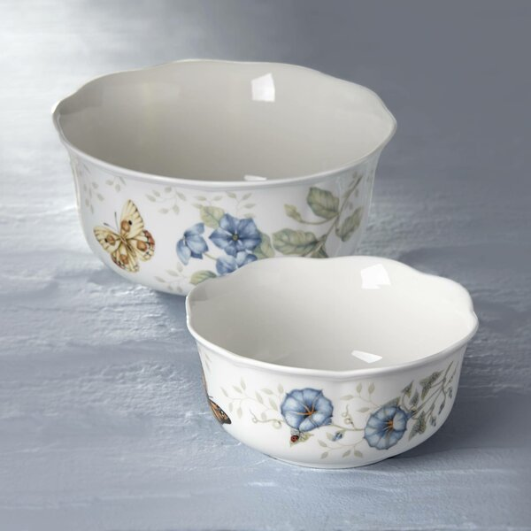 Butterfly Meadow Nesting Bowl / Soup Bowl (Set of 2) by Lenox