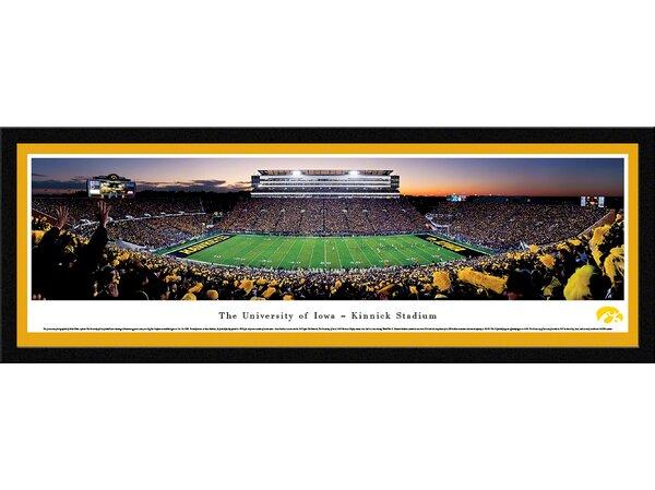 NCAA Iowa, The University of - Football by Robert Pettit Framed Photographic Print by Blakeway Worldwide Panoramas, Inc