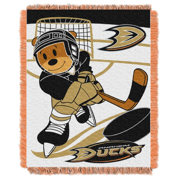 NHL Ducks Baby Woven Throw Blanket by Northwest Co.