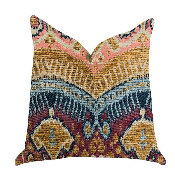 Reidy Ikat Luxury Pillow by Bungalow Rose