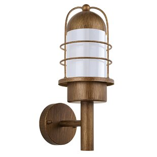 Reviews Marysville 1-Light Armed Sconce By Breakwater Bay