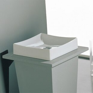 Comparison Tsunami Ceramic Square Vessel Bathroom Sink with Overflow By Scarabeo by Nameeks