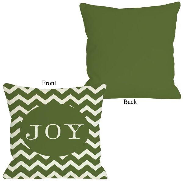 Joy Chevron Stripe Throw Pillow by One Bella Casa