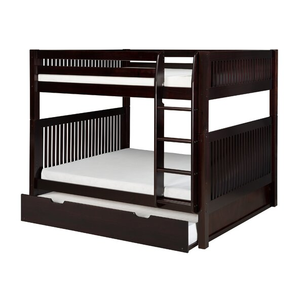Oakwood Natural Twin Bunk Bed with Storage by Harriet Bee