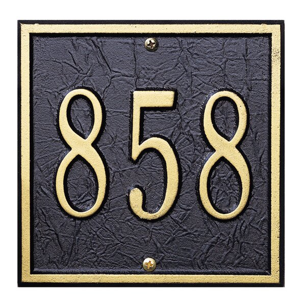 1-Line Wall Address Plaque by Whitehall Products