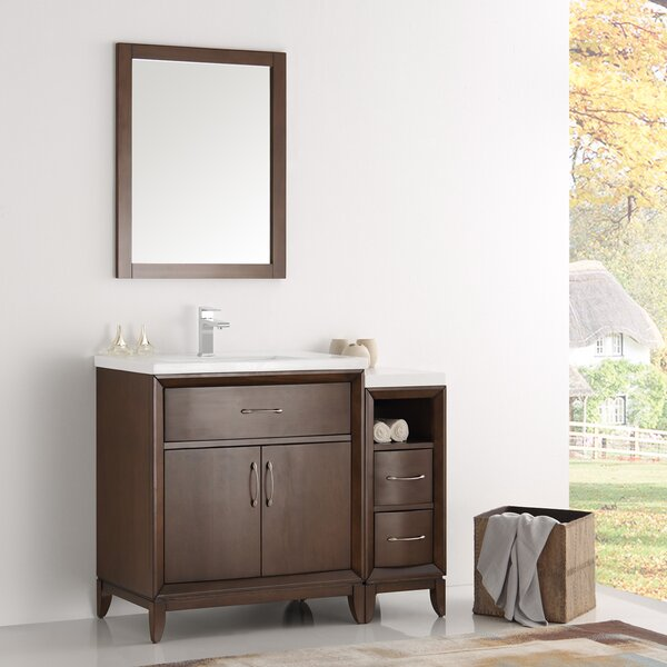 Cambridge 42 Single Traditional Bathroom Vanity Set with Mirror by Fresca
