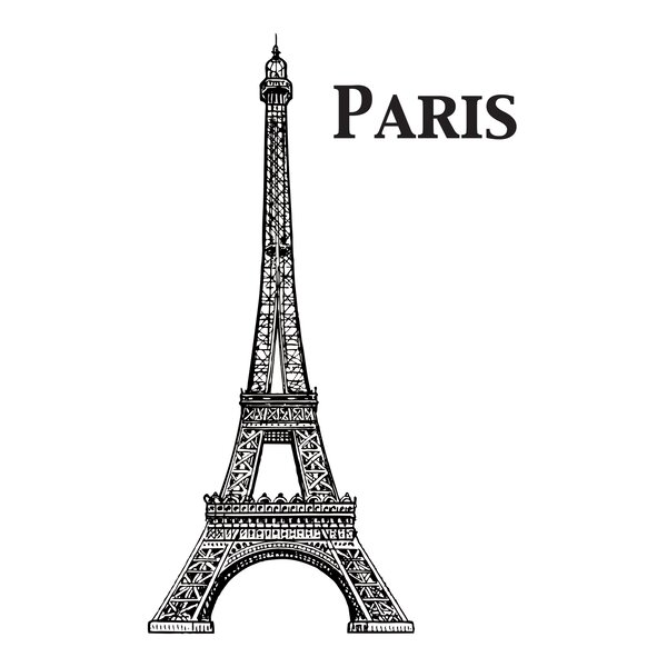 Home Decor Line Eiffel Tower Wall Decal by WallPops!