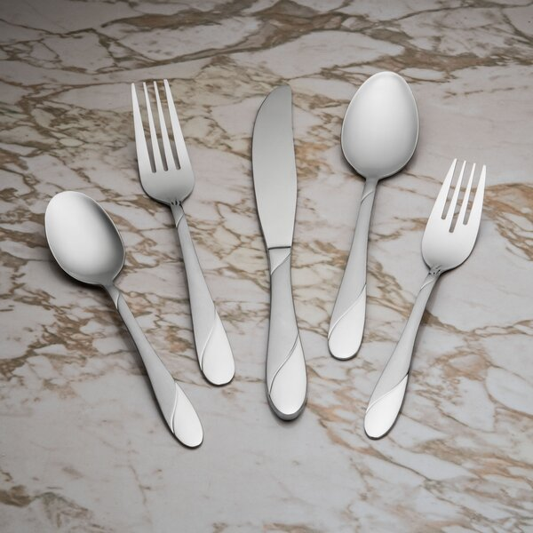 Swirl Sand 20 Piece Flatware Set, Service for 4 by Cambridge Silversmiths