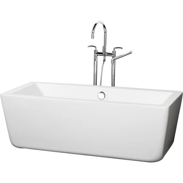 Laura 58.75 x 27.38 Freestanding Soaking Bathtub by Wyndham Collection