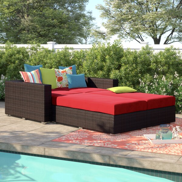 Brentwood 4 Piece Patio Daybed with Cushions by Sol 72 Outdoor