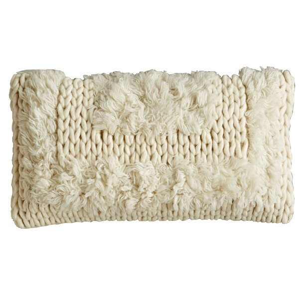 Gil Tribal Natural Wool Lumbar Pillow by Bungalow Rose