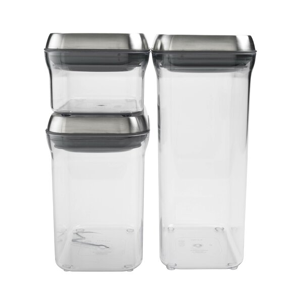 SteeL Pop 3 Container Food storage Set by OXO