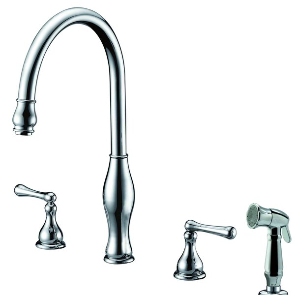 Single Handle Deck Mount Kitchen Faucet with Side Spray by Dawn USA