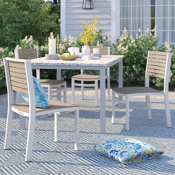 Caspian Stacking Patio Dining Chair (Set of 4) by Sol 72 Outdoor