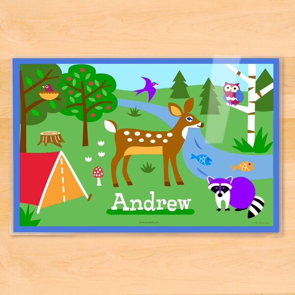 Camping Trip Personalized Placemat by Olive Kids